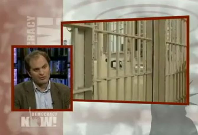 Democracy Now photo from private prison video