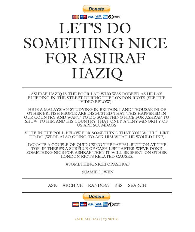 something nice for ashraf haziq
