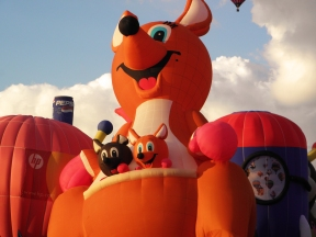 Albuquerque Balloon Fiesta Special Shapes Kangaroo and babies