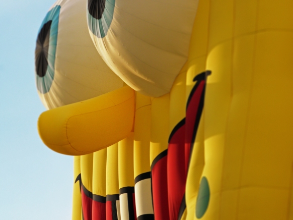 Albuquerque Balloon Fiesta Special Shapes Sponge Bob up close
