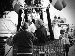 Albuquerque Balloon Fiesta Special Shapes Lady Jokers pilot in gondola