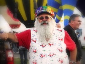 Albuquerque Balloon Fiesta Special Shapes regular fan who is the fiestas Santa Claus