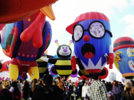 Albuquerque Balloon Fiesta Special Shapes Kissing Bee and Pencil Boy
