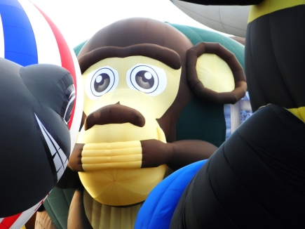 Albuquerque Balloon Fiesta Special Shapes Three Wise Monkeys speak no evil