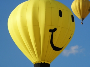 Albuquerque Balloon Fiesta Special Shapes Smiley face