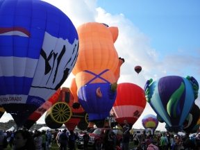 Albuquerque Balloon Fiesta Special Shapes several