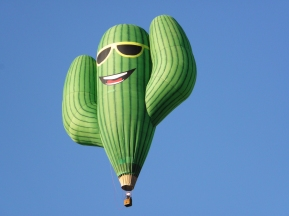 Albuquerque Balloon Fiesta Special Shapes saguaro grande