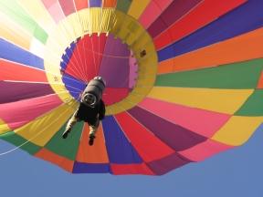 Albuquerque Balloon Fiesta Special Shapes Teardrop pilot no gondola