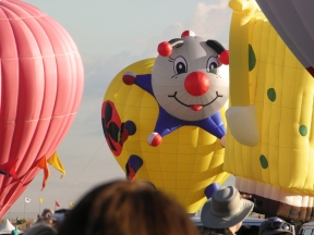 Albuquerque Balloon Fiesta Special Shapes Lady Joker and Sponge Bob