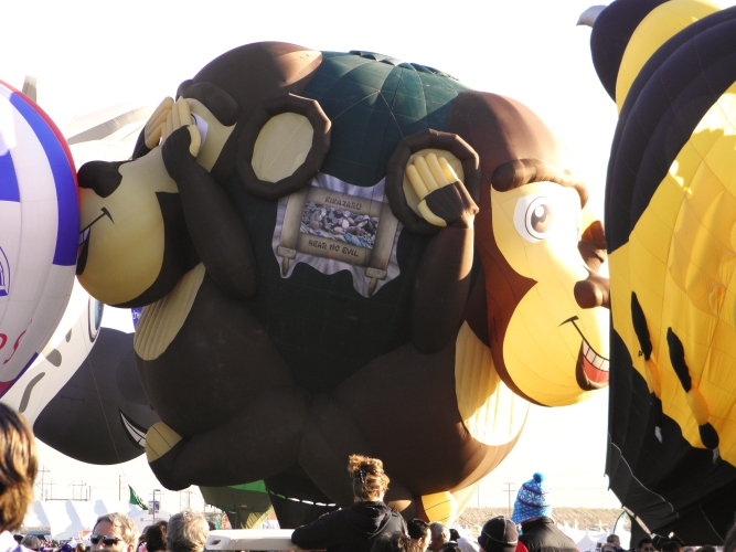 Albuquerque Balloon Fiesta Special Shapes Three Wise Monkeys