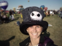 Balloon Fiesta 42 Me with my Jack from Nightmare before Christmas hat