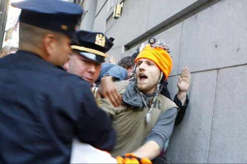 Occupy Wall Street man being arrested 0