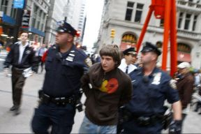 Occupy Wall Street man being arrested 01