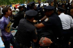 Occupy Wall Street man being arrested 02