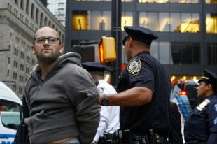 Occupy Wall Street man being arrested 03