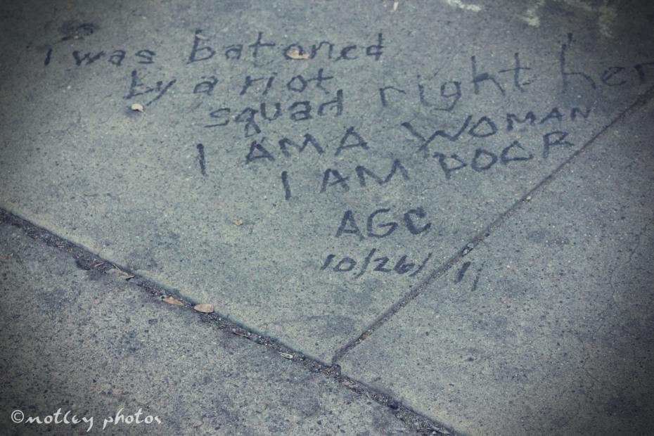 Occupy Albuquerque Wake of our 1st Amendment Oct 29 2911 01