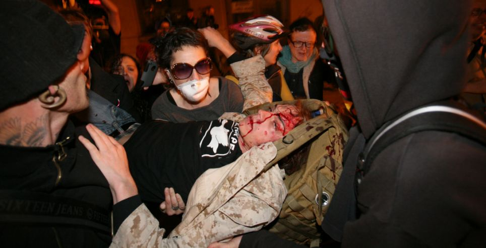 Occupy Oakland injured marine vet Scott Olsen