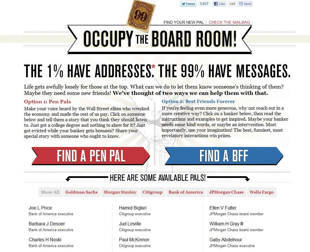 occupy the board room