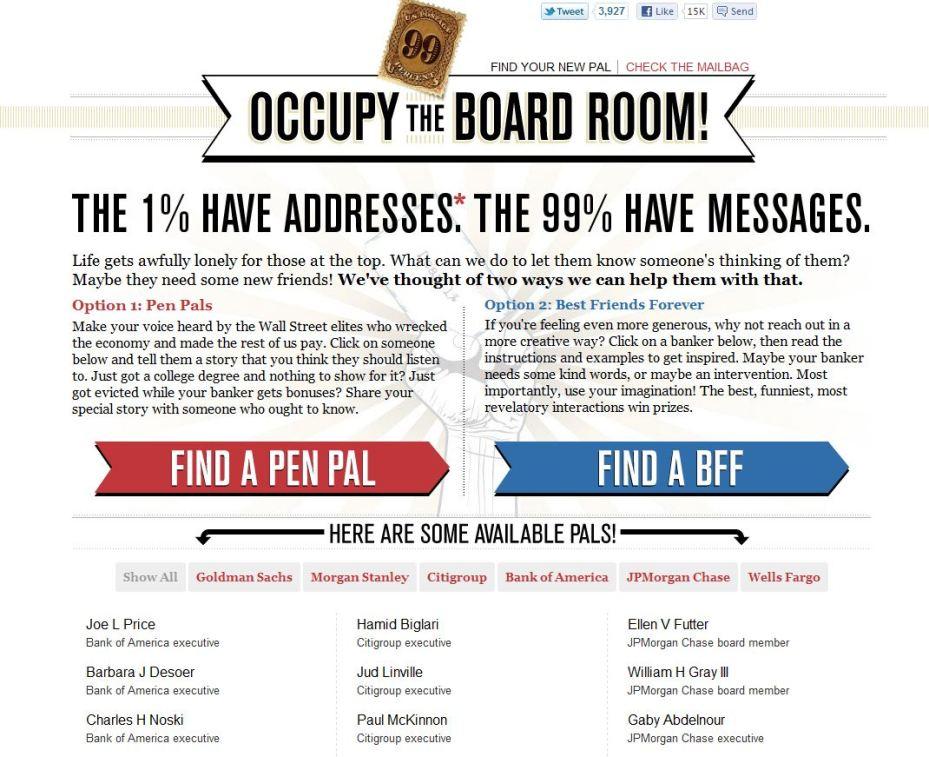 occupy the board room