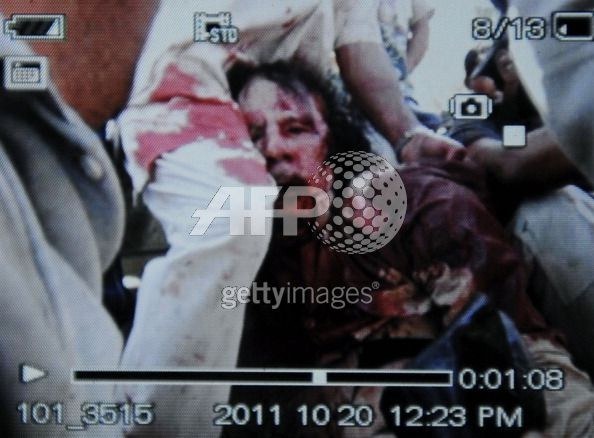 photo of gaddafi dead