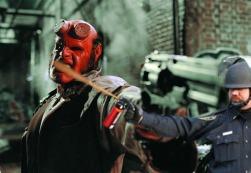 Lt John Pike pepper spraying cop and Hellboy