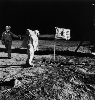 Lt John Pike pepper spraying cop and man landing on the moon