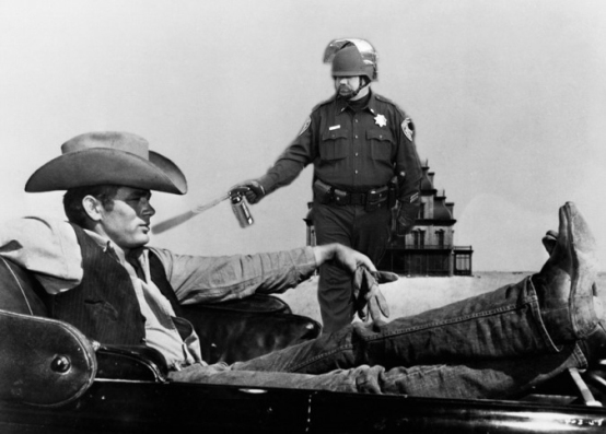 Lt John Pike pepper spraying cop James Dean in Giant