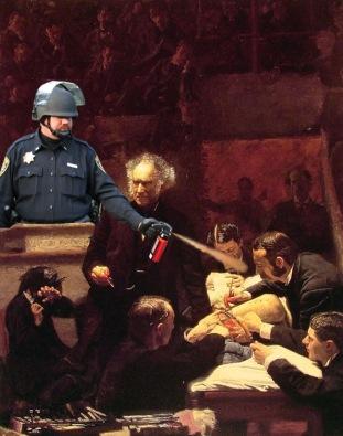 1 Lt John Pike pepper spraying The Gross Clinic