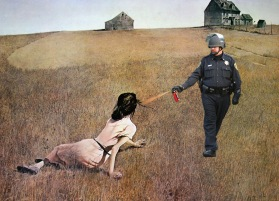 3 Lt John Pike pepper spraying Andrew Wyeth's Christina's World