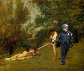 4 Lt John Pike pepper spraying Eakins' Arcadia