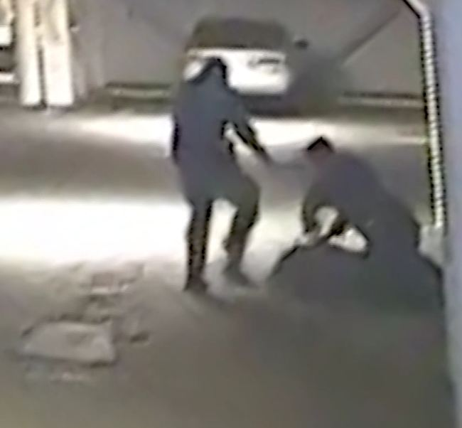 Albuquerque cops head kick suspect