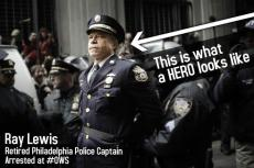 Captain Ray Lewis photo retired officer support OWS