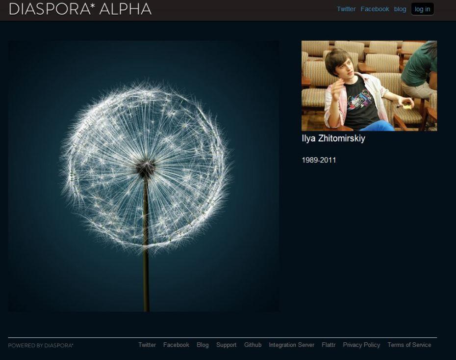 Diaspora home page