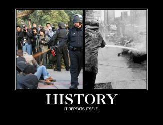 history repeats itself comparison of lt john pike and being hosed in civil rights protest