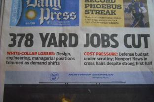 job cuts in newspaper