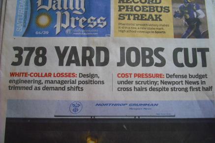 job cuts in newspaper