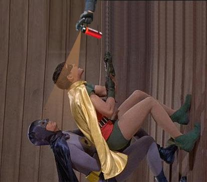 Lt John Pike pepper spraying Batman and Robin