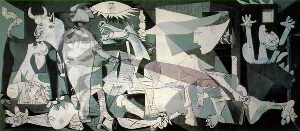 Lt John Pike pepper spraying Picasso's Guernica