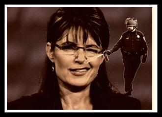 Lt John Pike pepper spraying Sarah Palin right in the nose