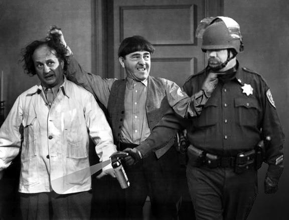 Lt John Pike pepper spraying the 3 stooges