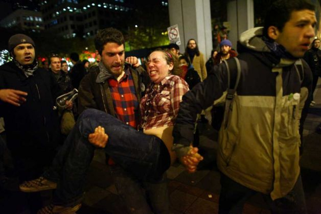 Occupy Seattle pregnant woman miscarries
