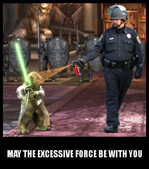 pepper spraying cop John Pike and Yoda