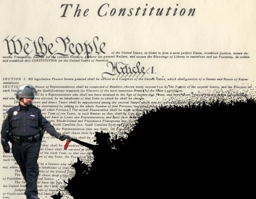 pepper spraying cop John Pike spraying the Constitution