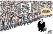 political cartoon about occupy wall street ows