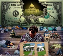 Satire crash of the dollar