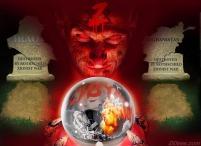 Satire crystal ball and Libya Rothschild