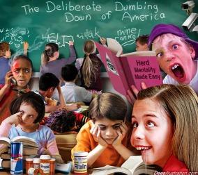 Satire dumbing down of America's students