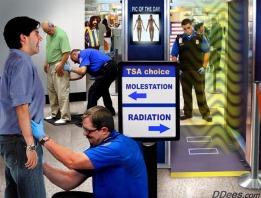 Satire TSA molestation versus radiation