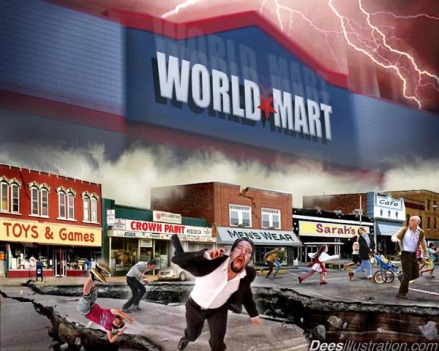 Satire world mart instead of wal mart and world being destroyed