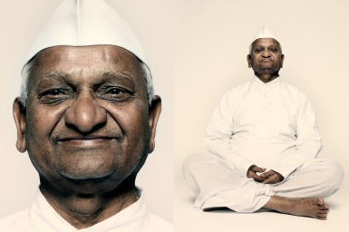 """Anna Hazare, anti-corruption crusader in India, says, """"When God wants to bring in change, he needs a vehicle of change, and I became that vehicle."""""""